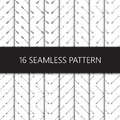 Set of seamless pattern with ethnic arrows