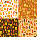 Set of seamless pattern of fast food icons for textiles interior design for book design website background Stock Photos