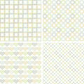 Set of seamless pattern with geometric shapes Royalty Free Stock Photo