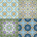 Set of  Seamless Pattern  In Islamic style. Royalty Free Stock Image