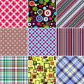 Set seamless patterns Royalty Free Stock Photos