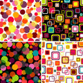 Set seamless patterns Stock Image
