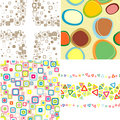 Set seamless patterns. Stock Photos