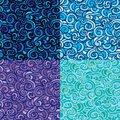 Set of seamless patterns with abstract hand Royalty Free Stock Photo