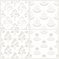Set of seamless patterns with australian flora monochrome eps vector illustration contains no transparency and blending modes Royalty Free Stock Photography