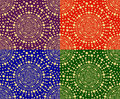 Set of seamless patterns of circles Stock Photos