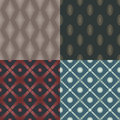 Set of seamless patterns circles squares rhombus ellipse Royalty Free Stock Photography