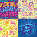 Set of seamless patterns with fish