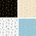 Set of seamless patterns of fruits Stock Photos