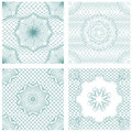 Set of seamless patterns - Guilloche ornamental Elements Royalty Free Stock Photo