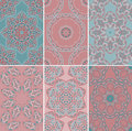 Set of seamless patterns in oriental style texture with ornament vector six Stock Image