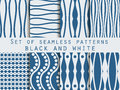 Set seamless patterns. The pattern of the lines. The pattern for wallpaper, tiles, fabrics, backgrounds.