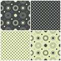 Set seamless patterns polka dots circles vector illustration Stock Images