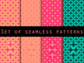 Set seamless patterns. Retro colors 80's. The pattern for wallpaper, bed linen, tiles, fabrics, backgrounds. Royalty Free Stock Photo