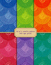 Set of seamless patterns with rope