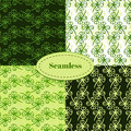 Set of seamless patterns for St. Patricks day. Clover hand drawn seamless pattern vector set