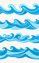 Set of seamless patterns with stylized waves Royalty Free Stock Photo