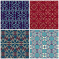 Set of seamless patterns for tapestry, craftsmanship Royalty Free Stock Photo