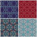 Set of seamless patterns for tapestry craftsmanship print textile scrap booking etc vector illustration Stock Images