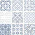 Set of seamless patterns. Royalty Free Stock Photo