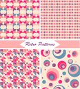 Set of seamless retro patterns and backgrounds Royalty Free Stock Photography