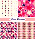 Set of seamless retro patterns and backgrounds Royalty Free Stock Photo