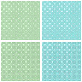 Set seamless retro texture white green blue vintage background Stock Photo