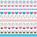 Set of seamless romantic ribbons for design Royalty Free Stock Image