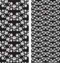 Set of seamless roses pattern, templates Stock Photos