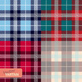 Set of seamless tartan pattern vector illustration Royalty Free Stock Photography