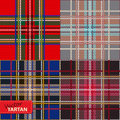 Set of seamless tartan pattern vector illustration Stock Images