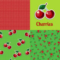 Set seamless texture cherry