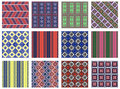 Set of seamless vector geometric colorful patterns with ornamental elements,endless background with ethnic motifs. Graphic vector