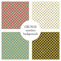 Set of seamless vector patterns. Geometric polka backgrounds with dots. Grunge texture with attrition, cracks and ambrosia. Old st