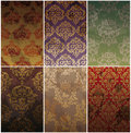 Set of seamless vintage background Stock Photos