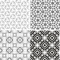 Set of seamless vintage floral pattern background Royalty Free Stock Photos