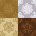 Set of seamless vintage pattern. Royalty Free Stock Images