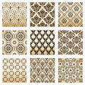 Set seamless wallpaper old decorative vintage Royalty Free Stock Image