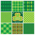 Set of seamlesspatterns for St. Patricks Day Royalty Free Stock Images