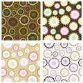 Set of seampless floral patterns Royalty Free Stock Images