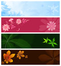 Set of season banners Royalty Free Stock Photography