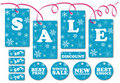 Set of season sale labels and symbols Royalty Free Stock Photo
