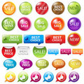 Set Selling Badges. Vector Stock Photo