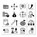 Set of seo web and internet icons isolated on white Royalty Free Stock Photography