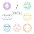 Set Of Seven Colorful Chakras....