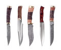 Set of several hunting knives Stock Photos