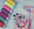 a set of sewing accessories Royalty Free Stock Photo