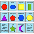 Set of Shape Flash Cards Royalty Free Stock Images