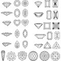 Set of shapes of diamond Royalty Free Stock Photo
