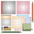 a set of sheets in a cell of different colors Royalty Free Stock Photo